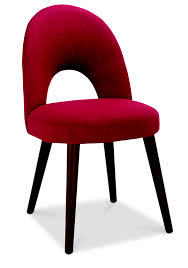 Upholstered Chair by Oslo Walnut Red Fabric Upholstered Dining Chairs