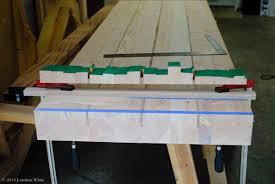 table top glue up gluing up the workbench top the bench blog