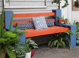 home dzine garden ideas make your own wood and breeze block bench