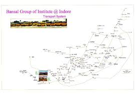Bus Route Map Bus Route Sushila Devi Bansal College Of Engineering Formerly
