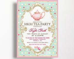 tea party bridal shower invitations awesome bridal shower invitation wording high tea ideas wedding