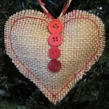 sweet burlap ornament burlap ornaments