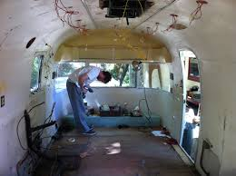 gutting the interior airstream office project