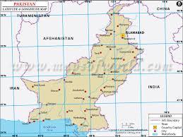 world map pakistan karachi latitude and longitude map