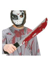 Butcher Halloween Costume Friday 13th Jason Voorhees Machete Knife Weapons Halloween