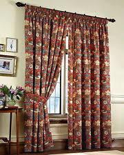 Short Drop Ready Made Curtains Sanderson William Morris Curtains Ebay