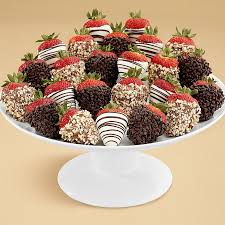 chocolate covered fruit baskets two dozen gourmet dipped autumn strawberries