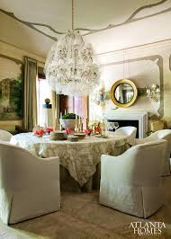 eye for design decorate with round skirted dining room tables