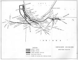 Chicago Heights Map by Penn Central Railroad Employee Timetable Maps And Information