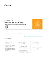 volvo email volvo case study perfecting target group mktng target audience