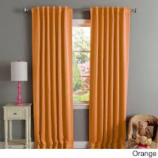 Orange Thermal Curtains Home Insulated Thermal Blackout 84 Inch Curtain Panel Pair