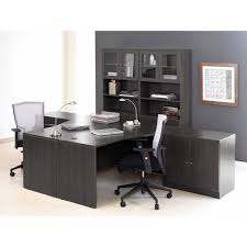 dual desk office ideas jesper dual workspace with optional chairs espresso don t