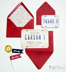 a vintage car travel party carson u0027s first birthday invitations