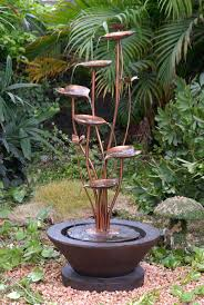 308 best water features images on pinterest garden fountains this acqua di loto lotus outdoor fountain transforms a favorite garden spot into an artful retreat with this unique stylish lotus metal water fountain
