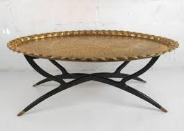 modern moroccan mid century modern moroccan style tray coffee table at 1stdibs