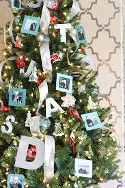Christmas Decorations Blue And Red by Aqua And Red Personalized Christmas Tree With Diy Photo Ornaments