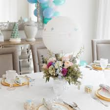 baby shower table decoration how to plan a hot air balloon themed baby sprinkle martha stewart