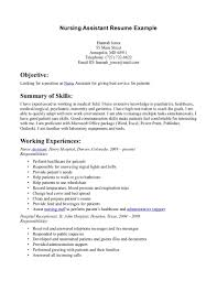 nursing assistant resume exles 12 no work experience resume exle sle resumes