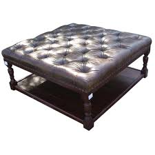 Gray Leather Ottoman Best Awesome Cocktail Ottoman With Shelf Pertaining To Property