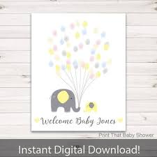 baby shower fingerprint tree baby shower fingerprint guest book elephant baby shower