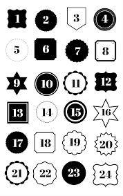 adventskalenderzahlen zum ausdrucken sparkle mint