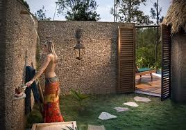 Outdoor Shower Curtains Different Ideas Of Outdoor Shower Ideas Carehomedecor