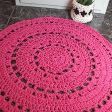 Crochet Doormat Shop Crochet Round Rug On Wanelo