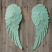 Wings Wall Decor Aqua Angel Wings Wall Decor From The Vintage Artistry