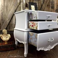 Bombay Chest Nightstand Bombe Chest With Secrets Decoupaged Drawers