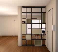 scaffale divisorio parete divisoria in un loft interior design project