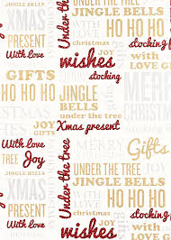 213 clearance cream gift wrap christmas wish design fw114 70 33