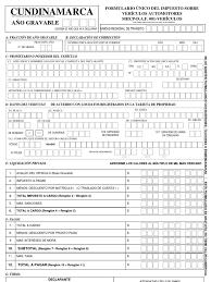 liquidacion de impuesto vehicular funza formulario único del impuesto