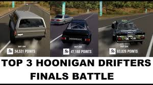 hoonigan rx7 twerk stallion forza horizon 3 fh3 hoonigan drift battle top 3 drifters youtube