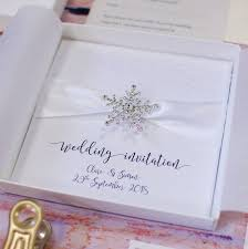 Lace Wedding Invitations Crystal Snowflake And Lace Winter Wedding Invitations By Made With
