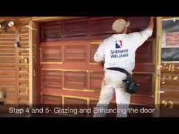 Faux Paint Garage Door - time lapse garage door faux paint wood slc youtube