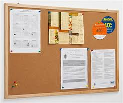 pin board 36 x 24 pine frame pin board cork surface