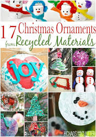 ornaments from recycled materials