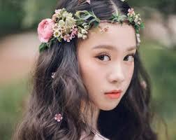 flower crowns boho flower crown etsy