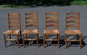 Maple Chairs Of 4 Stickley Ladder Back Maple Chairs With Rush Seats C1956