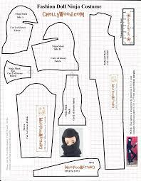 sewing pattern ninja costume free printable sewing pattern for fashiondolls ninja costume