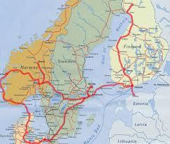 Scandinavia Map Backpackingdave Com
