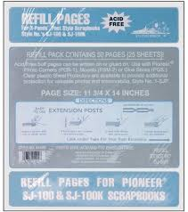 pioneer refill pages 11 3 4 x 14 postbound refill pages joann