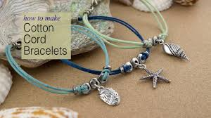 cord bracelet with charm images How to make cotton cord charm bracelets using tierracast jpg