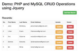 cara membuat database dengan mysql front php mysql crud operations using jquery and bootstrap