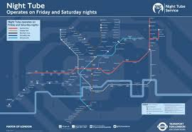 Map Of Kent State University by London U0027s New Night Tube Map Is Released U2013 Next City