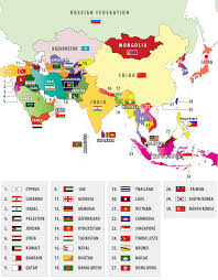 Blank Map Of Asia Quiz by Flags Of Asian Countries Asian Country Flags
