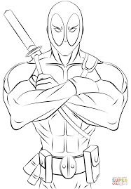 deadpool printable coloring page coloring pages