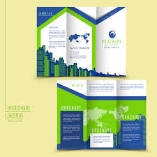 Three Page Brochure Template modern style tri fold brochure template for business stock vector