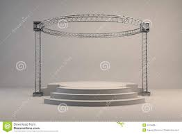 empty studio stage white stock illustration image 54794287