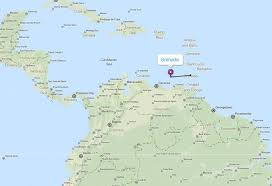 grenada location on world map politic map of grenada